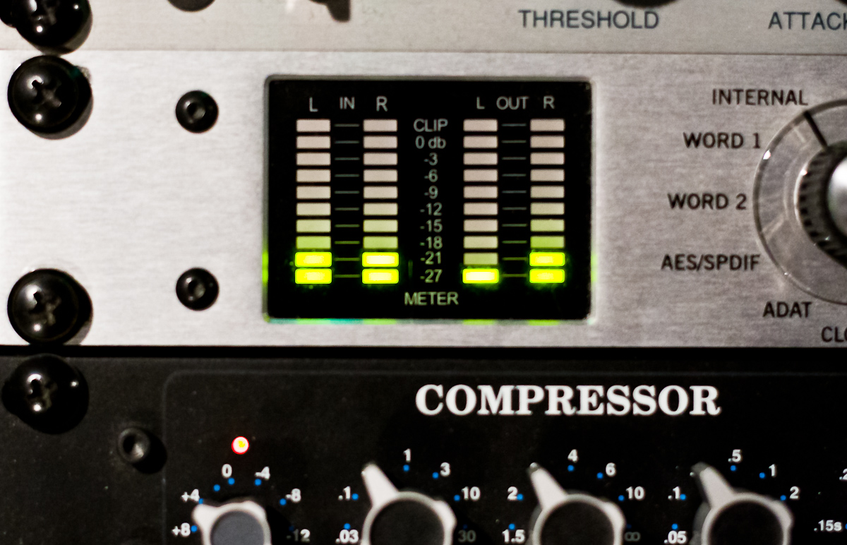 Meters on the UA2192 Master Audio Converters
