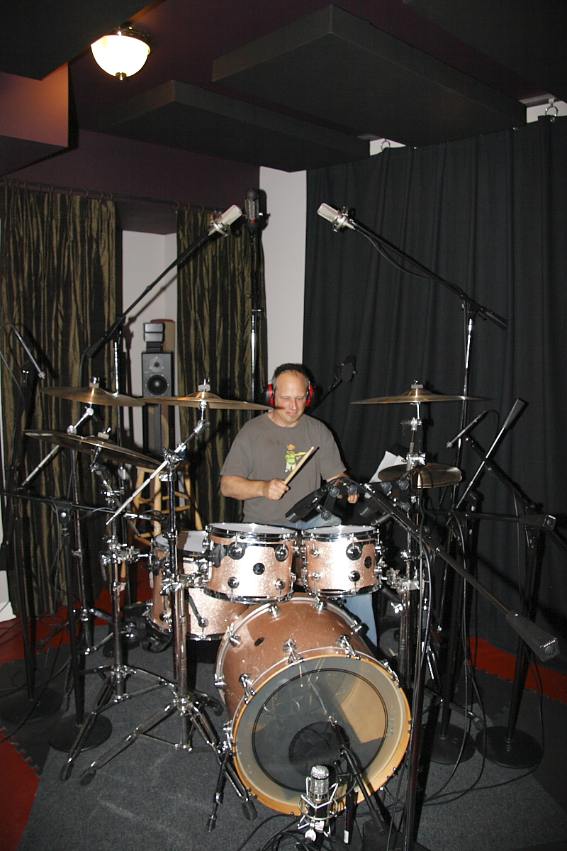 Ben Smith rocking the drums at DBAR Productions
