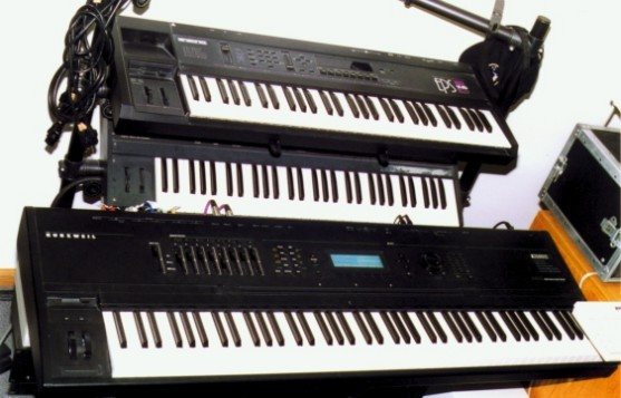 Keyboards at the Eastlake Ave. Studio