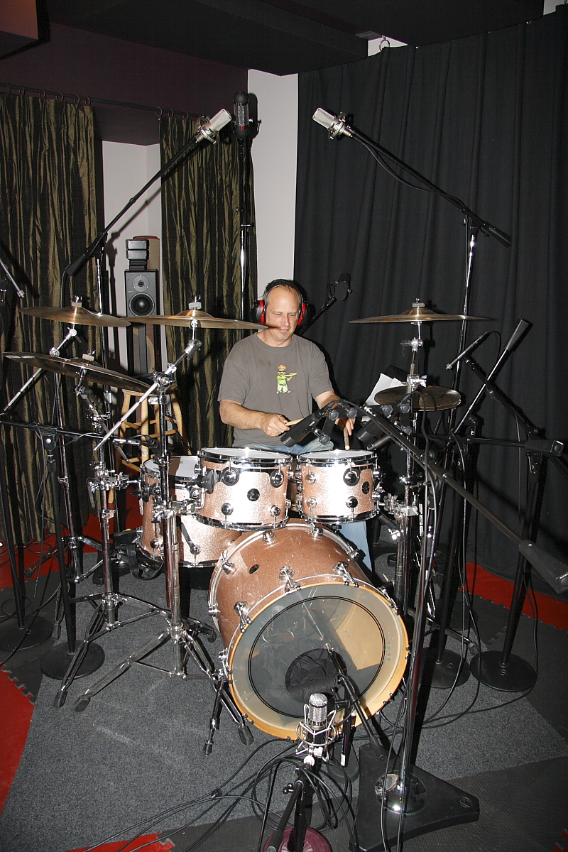 Ben Smith tracking drums