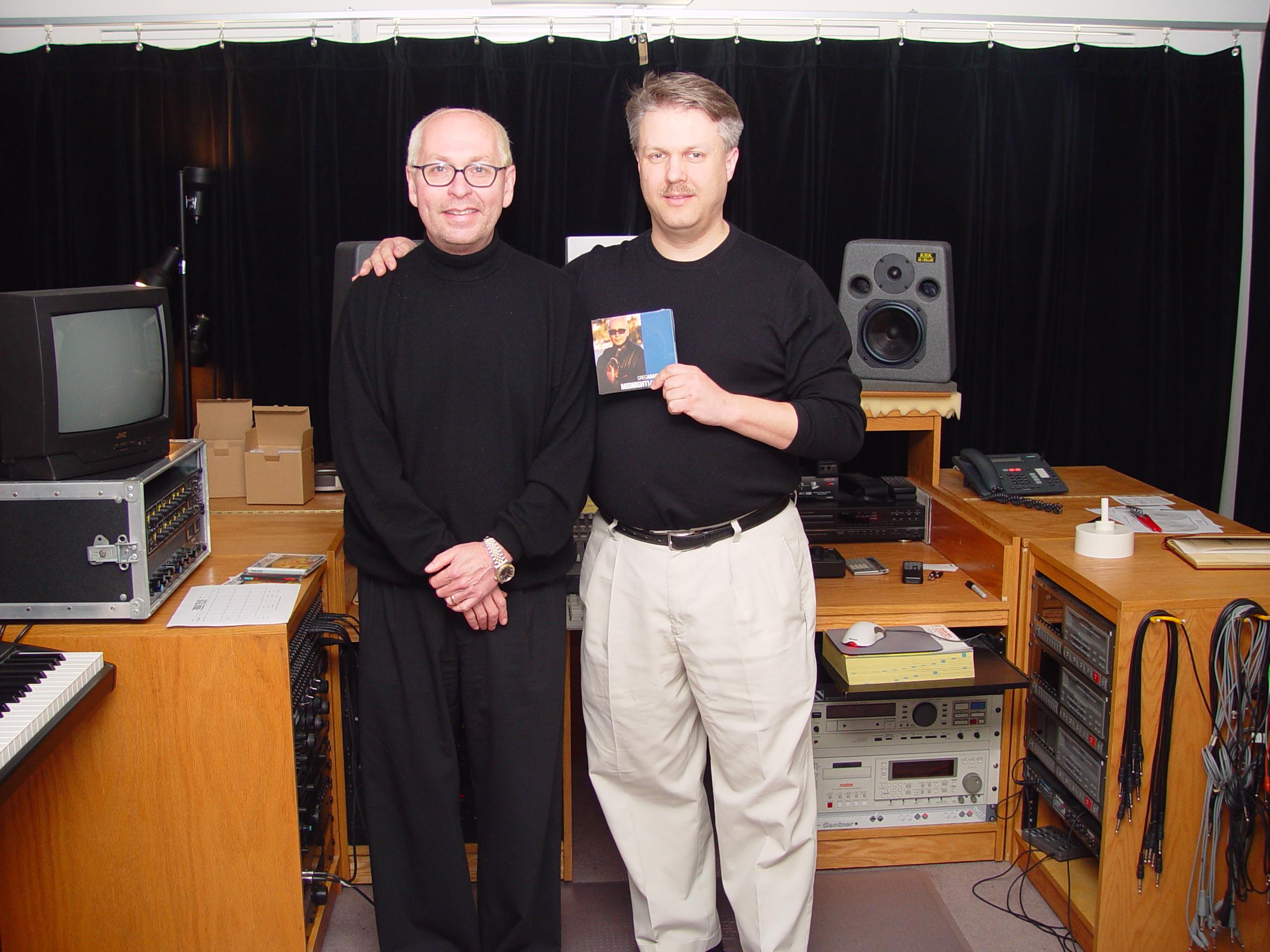 Greg Adams and Paul McVicar in my West Seattle studio