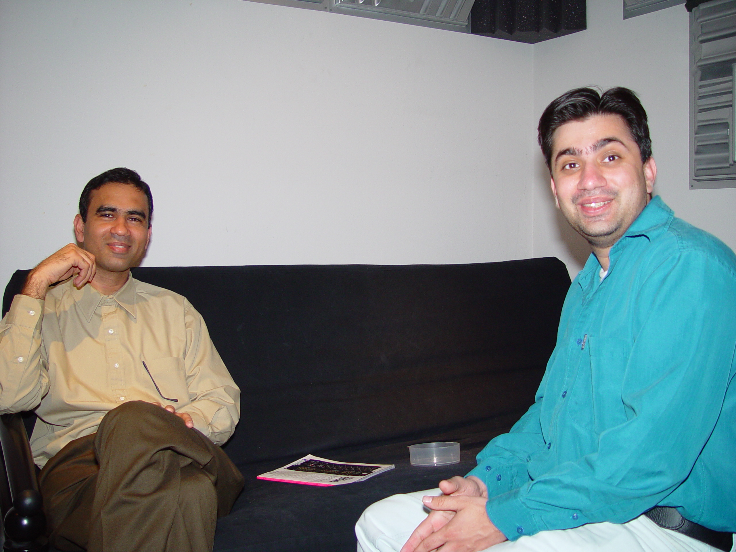 Sanjeev and Manish in the West Seattle Studio