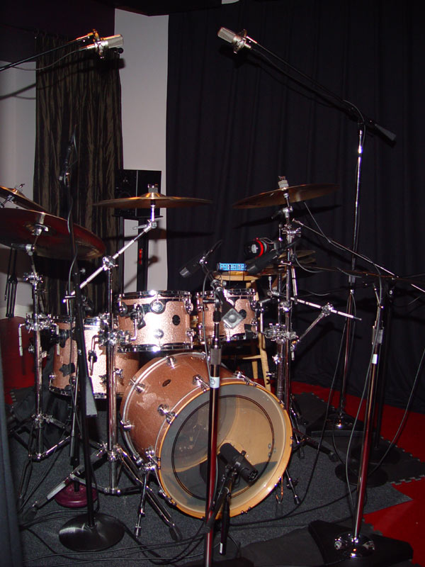 Ben Smith's Kit ready for recording