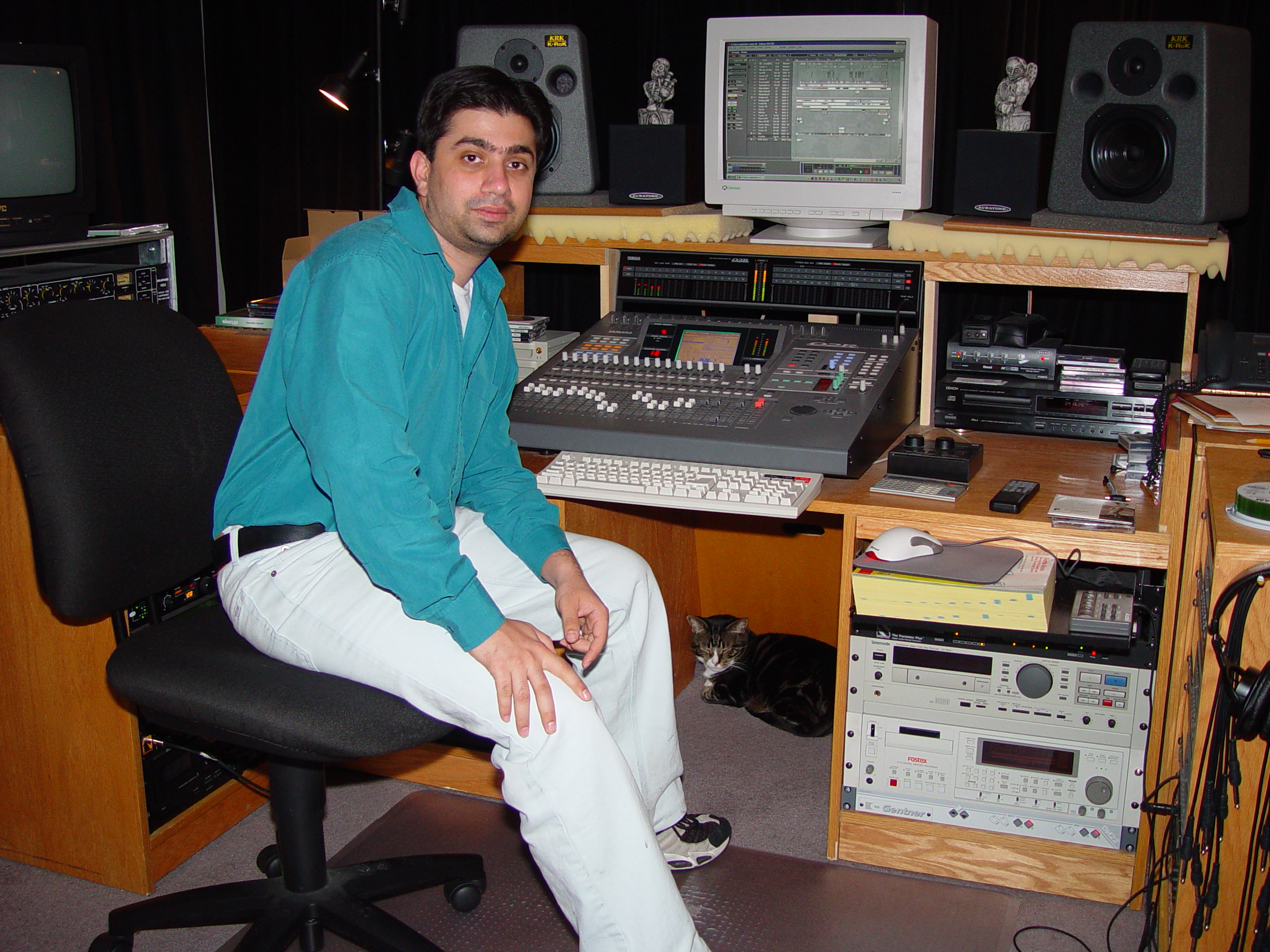 Manish in the West Seattle Studio