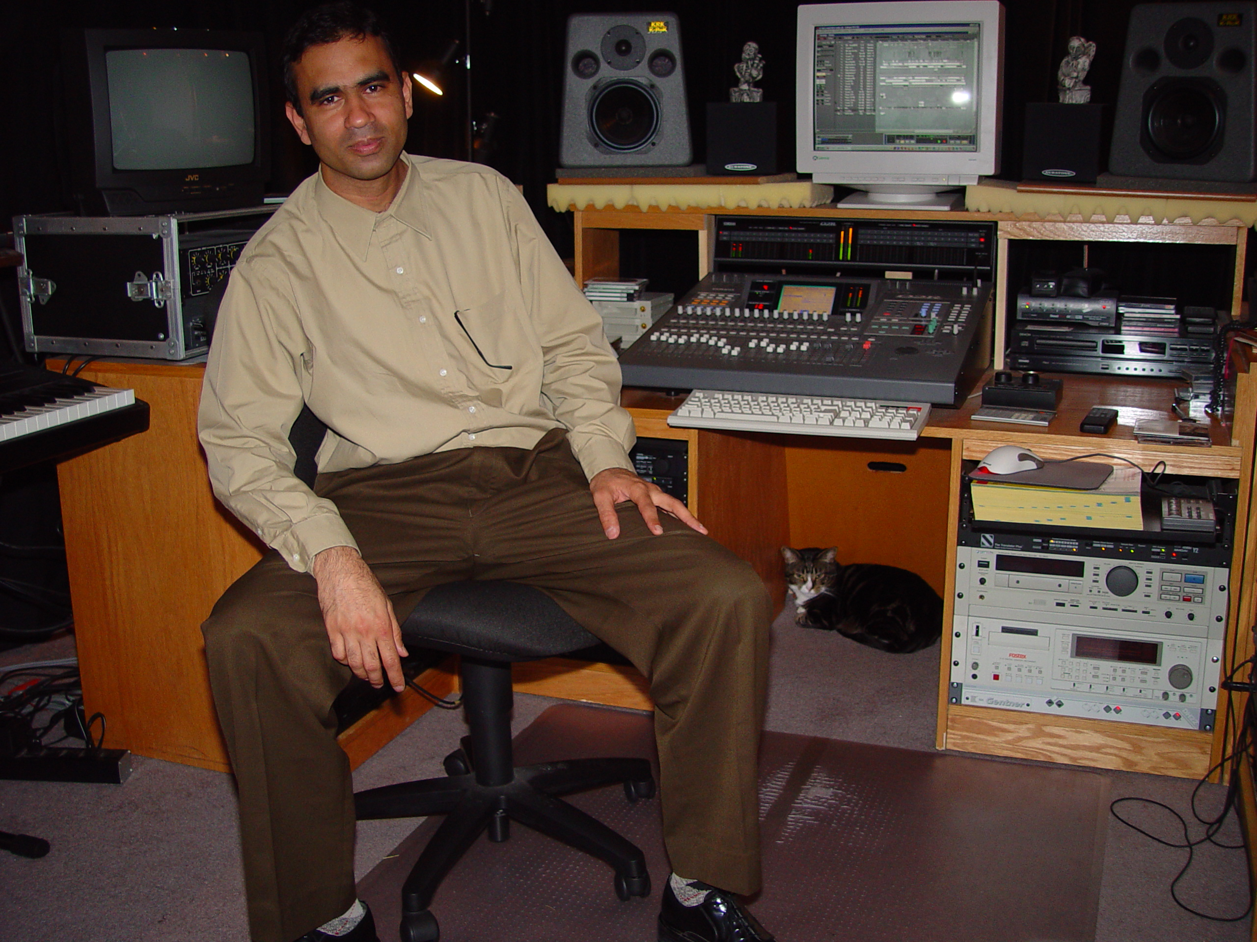 Sanjeev in the West Seattle Studio