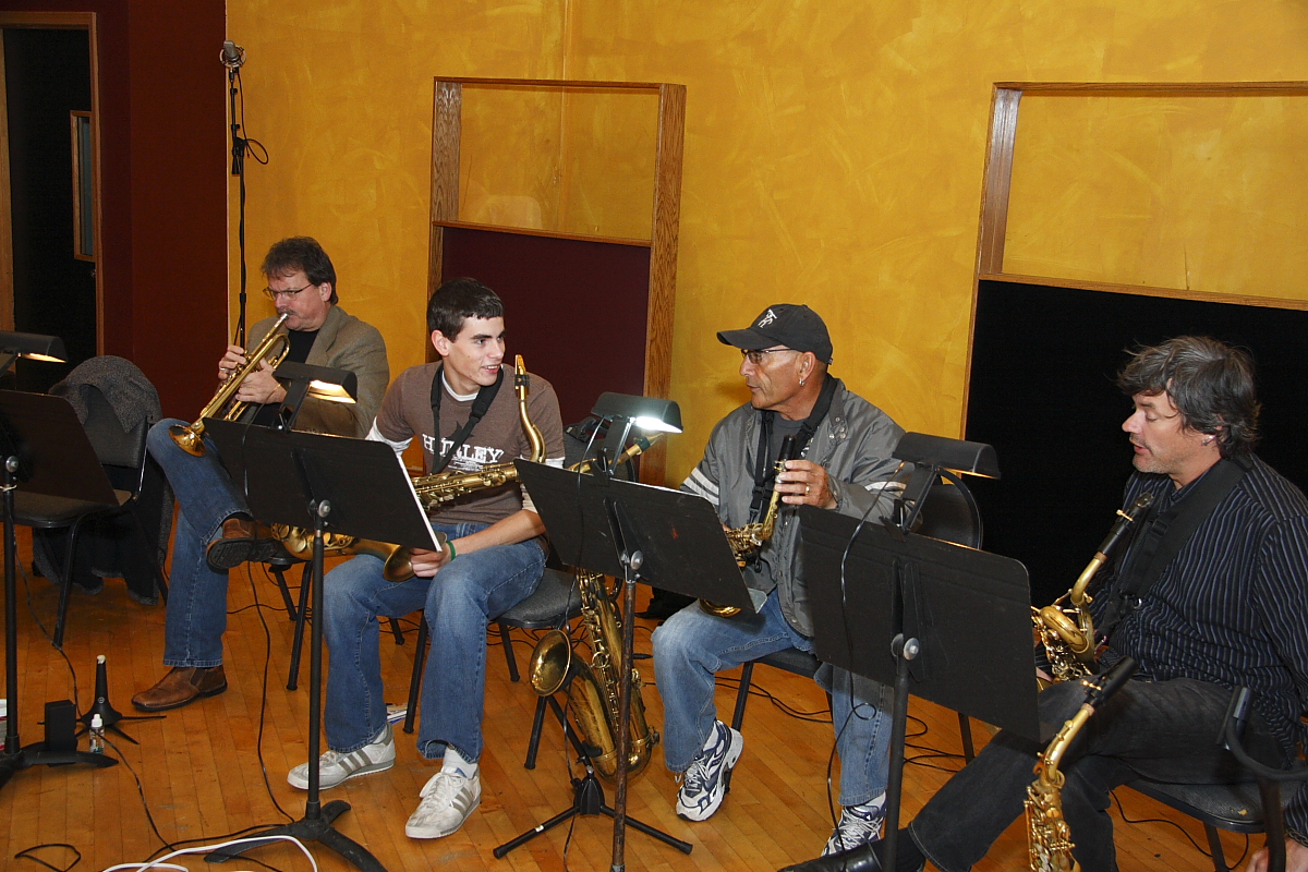 Greg Adams Horn Section at London Bridge Studio