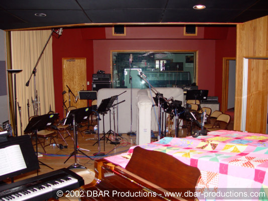 Big Band recording setup in Studio A at Triad Studios