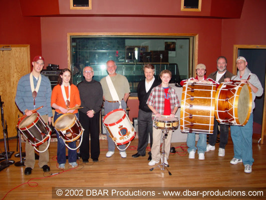 The drum line with Greg Adams and Paul McVicar