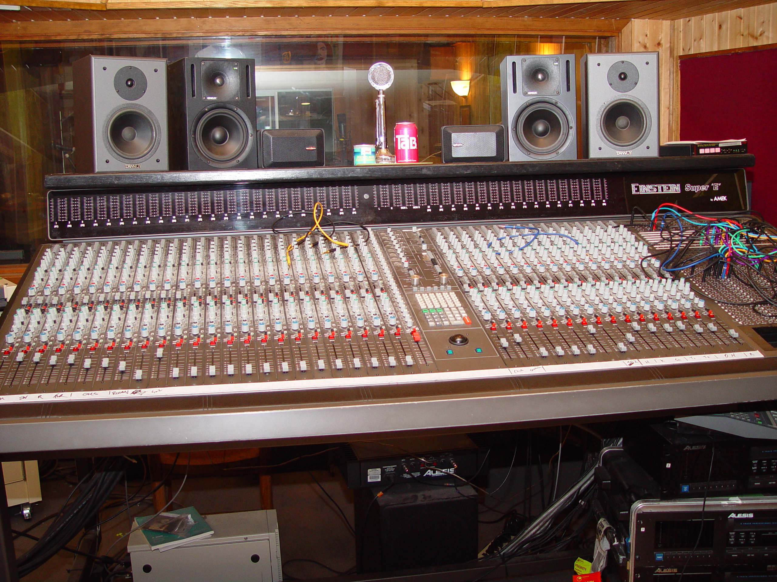 The console at Jupiter Studios
