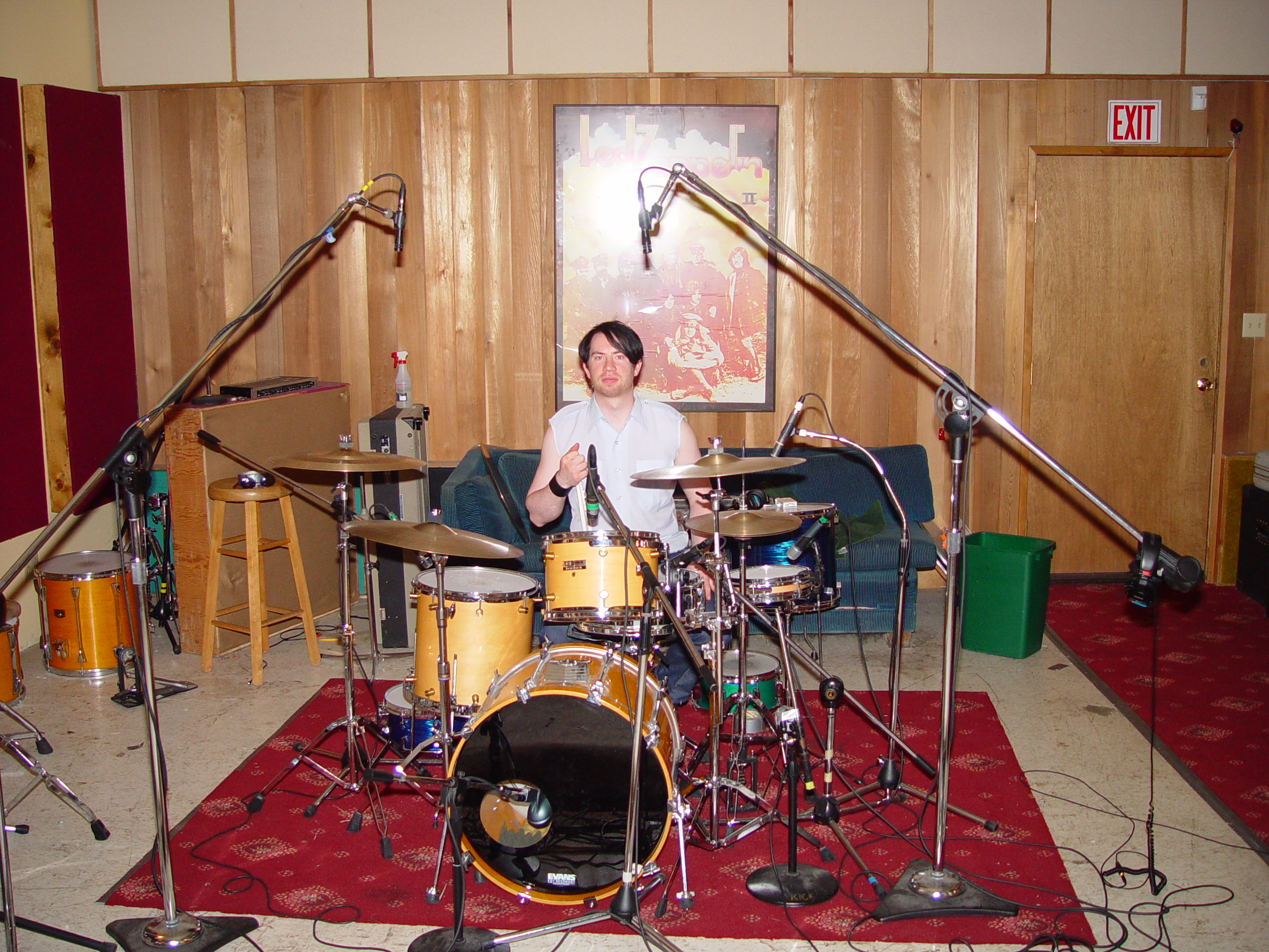The Drum Setup at Jupiter Studios