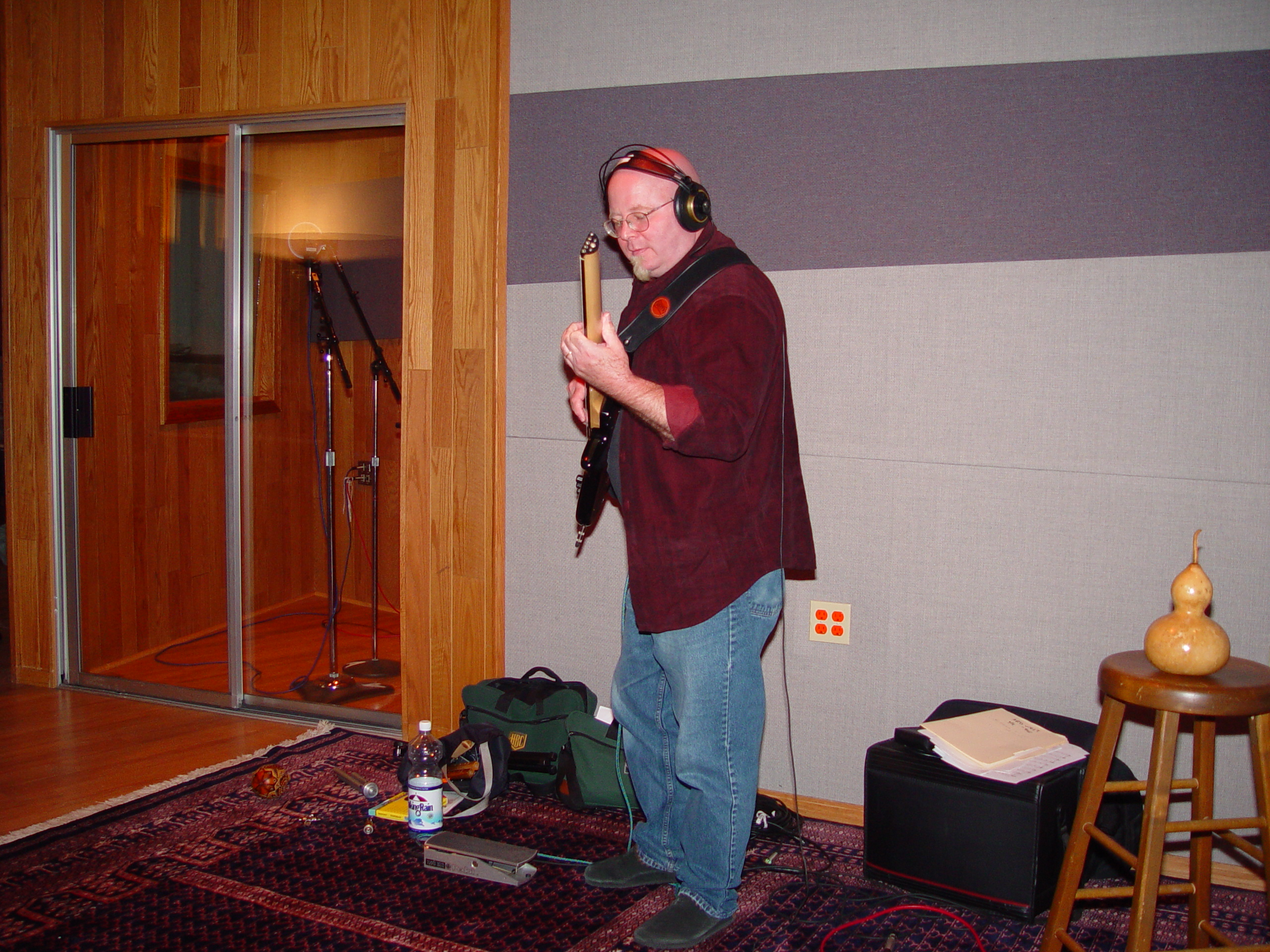 Recording in Studio A at Triad Studios