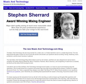 Music and Technology - Resources for the Recording Musician