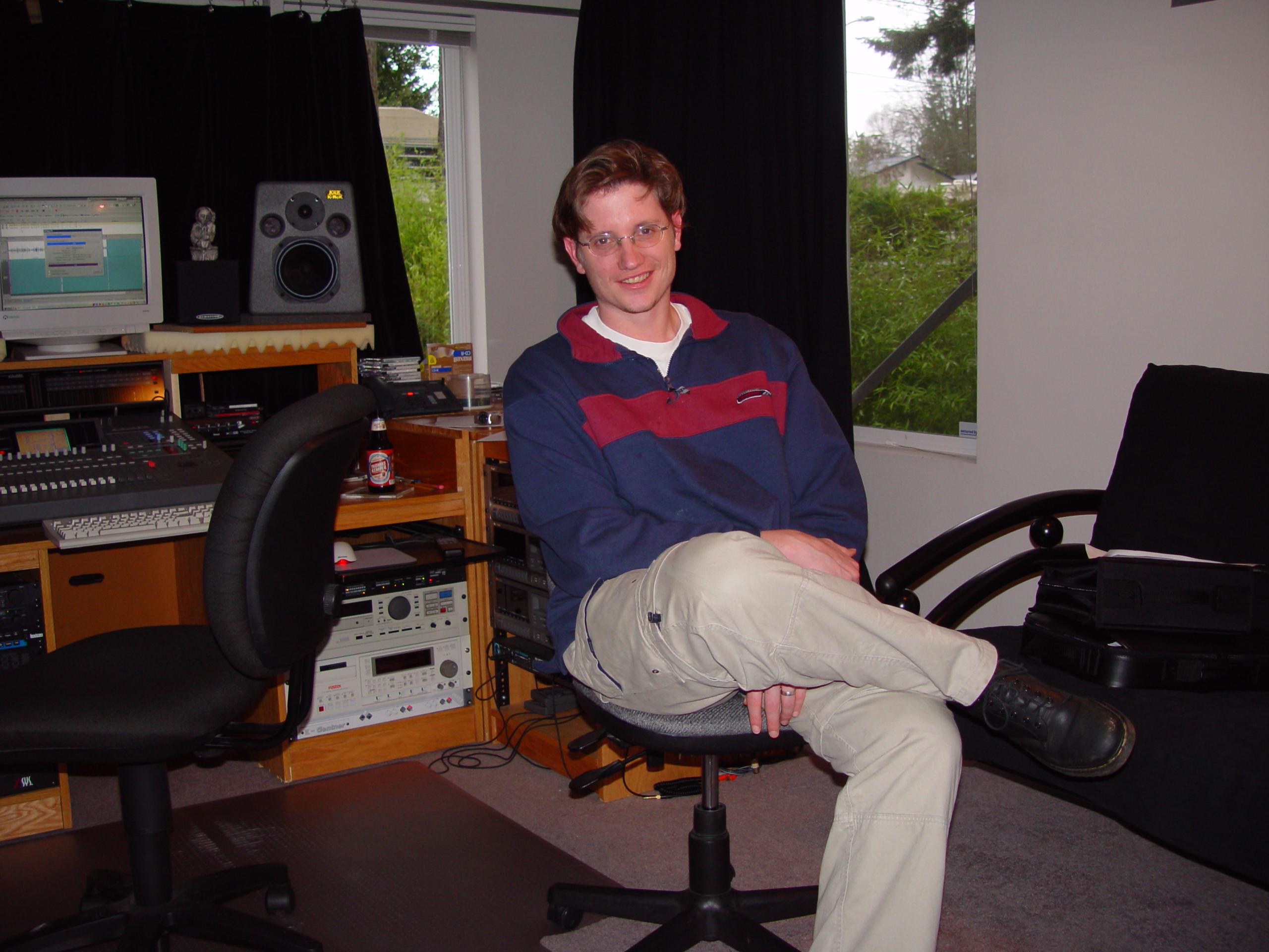 Todd Koeppen in my West Seattle Studio