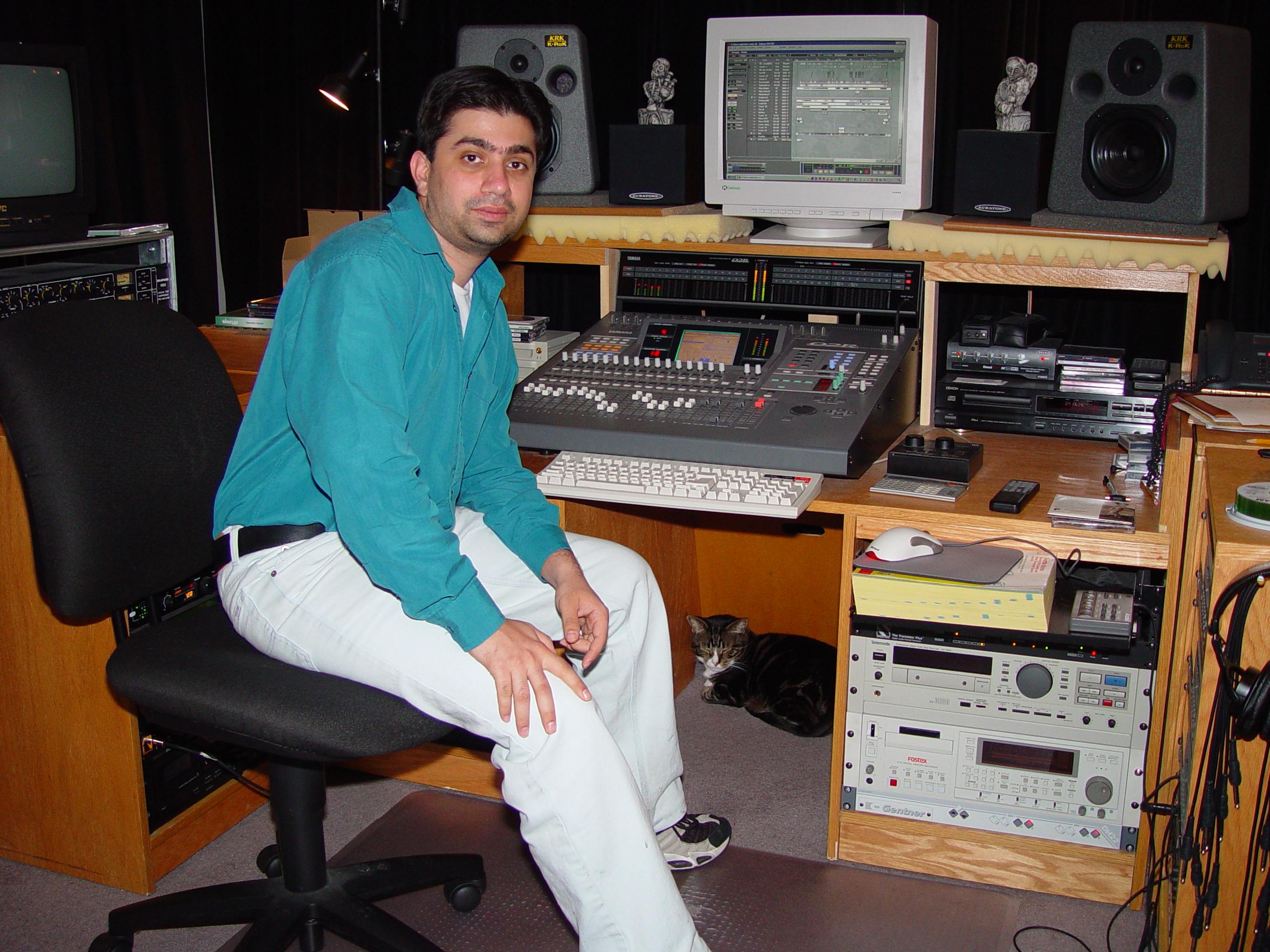Manish in the West Seattle Studio