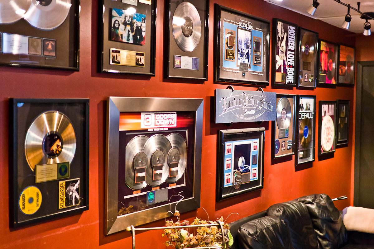 The Wall Of Fame at London Bridge Studio