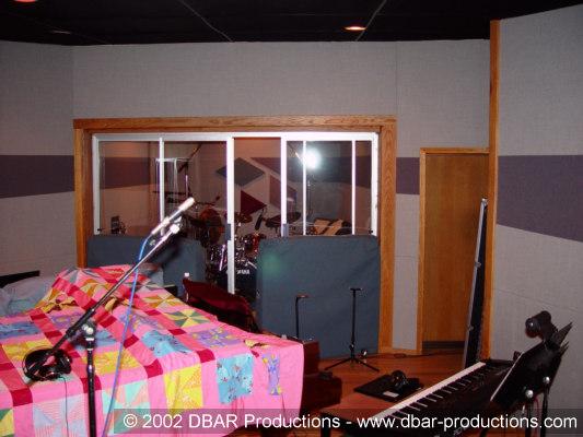 Big Band recording setup in Studio A at Triad Studios