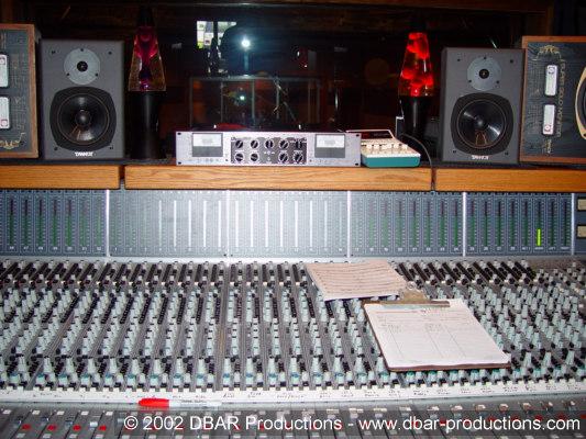The console in Studio A at Triad Studios