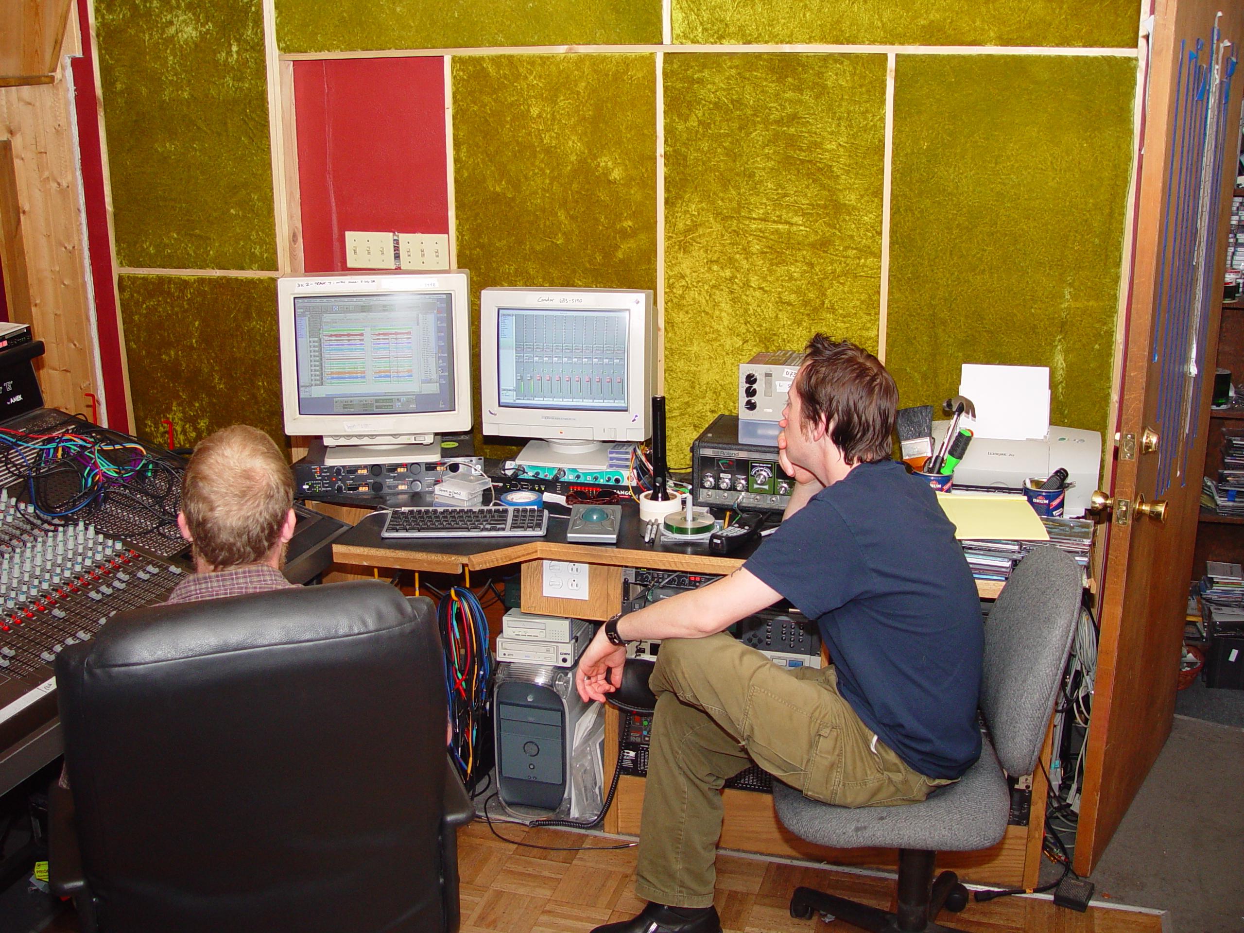 Working hard at Jupiter Studios