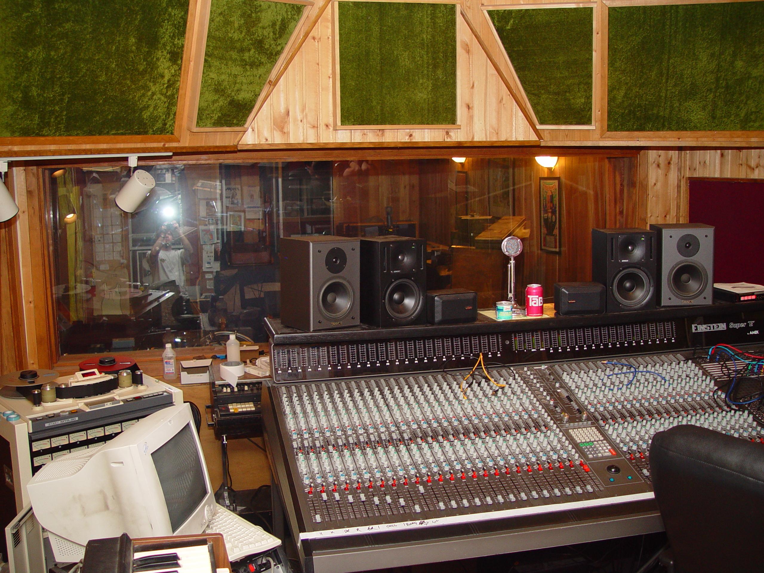 The console at Jupiter Studios
