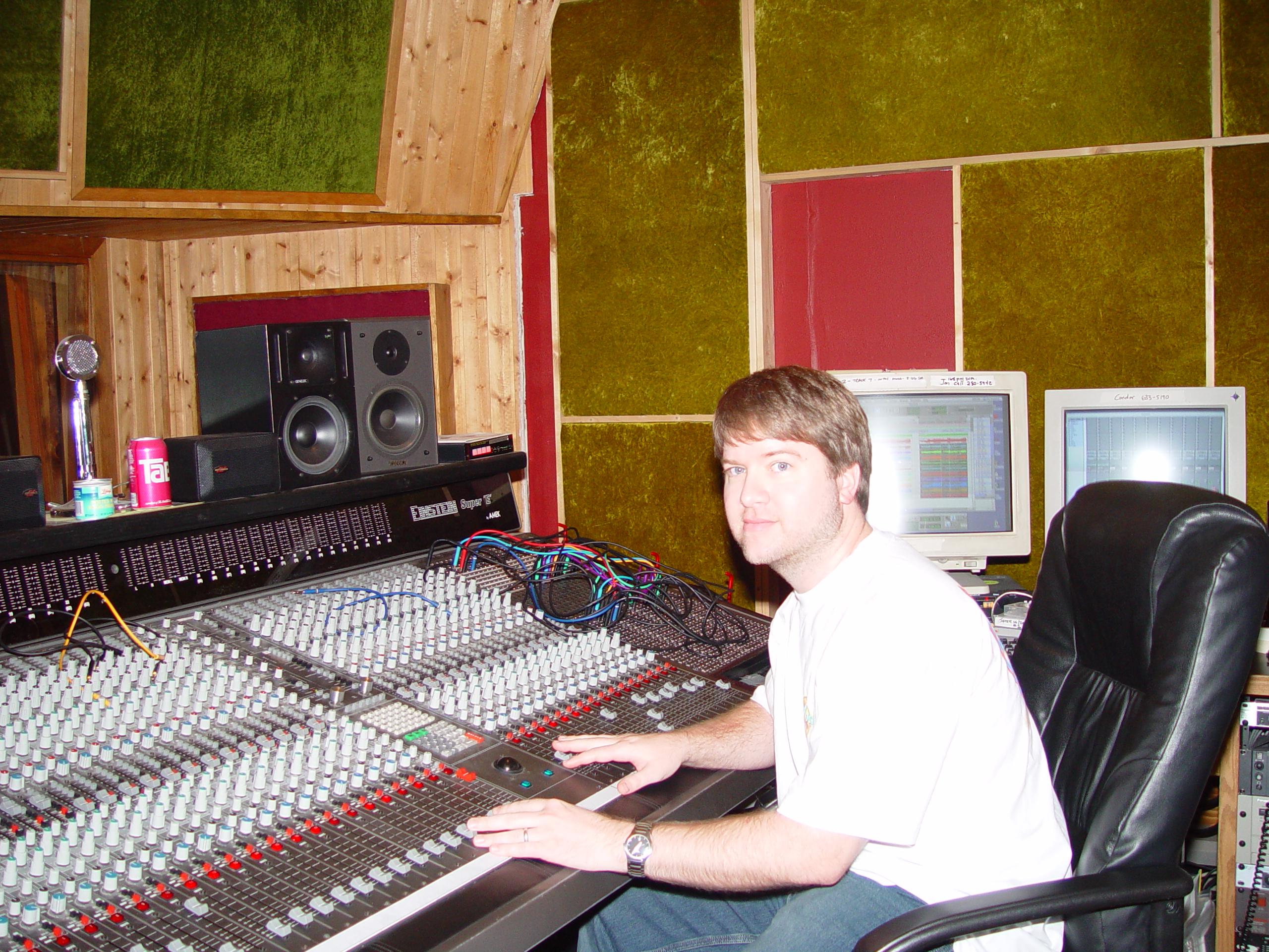 Producer/Engineer Stephen Sherrard at Jupiter Studios