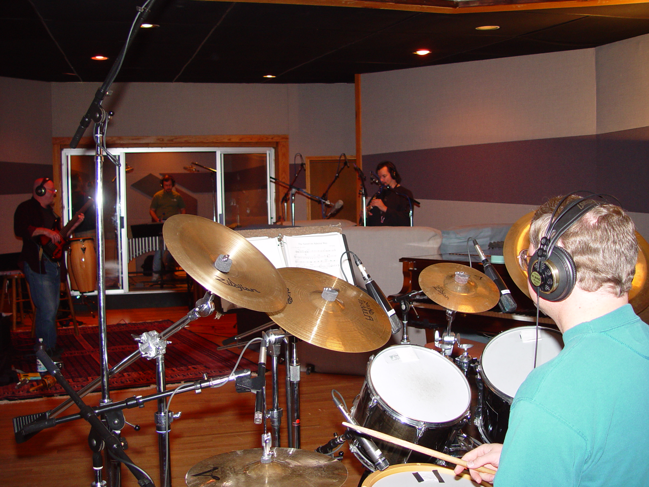 Recording in Studio A at Triad Studios