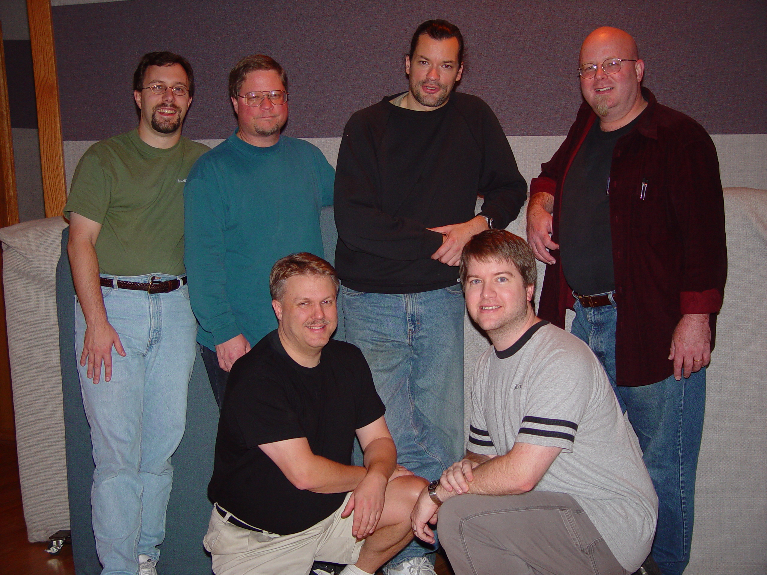 The band with Producer Paul McVicar and Engineer Stephen Sherrard