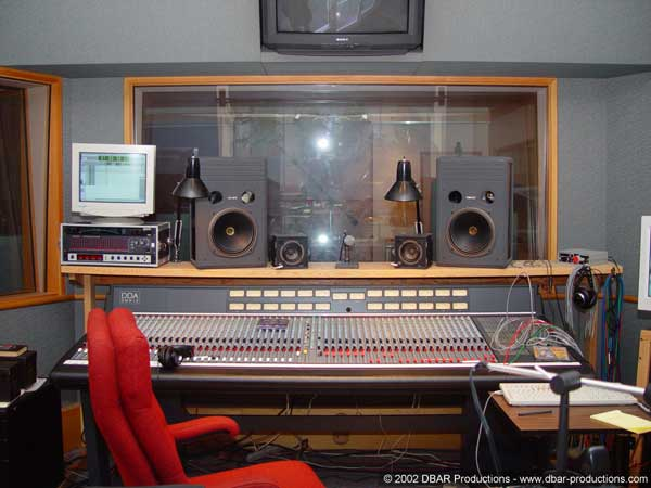 The control room at Jupiter Studios