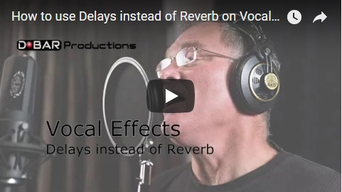 How to use Delays instead of Reverb when mixing Vocals